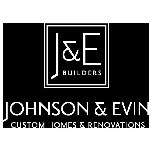 Johnson & Evin Builders White Logo